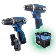 DRAPER 10.8V Drill TW/Pack +3 Batteries and Bag- Stormforce Interchange Mega Deal: Model No. *10.8V2D+3
