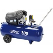 DRAPER 100L 230V 2.2kW (3hp) V-Twin Air Compressor: Model No.DA100/412TV