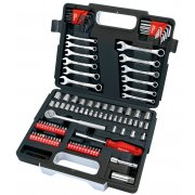 "DRAPER 107 Piece Mechanics 1/4, 3/8"" Sq. Dr. Tool Kit : Model No.RL-TK107"