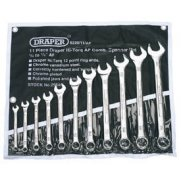 DRAPER 11 Piece Imperial Combination Spanner Set: Model No.8220/11/AF