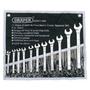 DRAPER 11 Piece Metric Combination Spanner Set: Model No.8220/11/MM