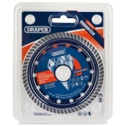 DRAPER 115 x 22.2mm Multipurpose Turbo Rim Diamond Blade: Model No. DBMP