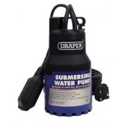 DRAPER 120L/Min 200W 230V Submersible Water Pump with 6M Lift and Float Switch: Model No.SWP120A