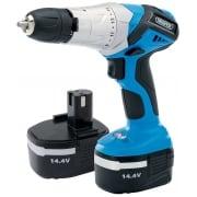 DRAPER 14.4V Cordless Hammer Drill with Two Batteries: Model No. CDH145V2B