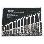 DRAPER 14 Piece Imperial Combination Spanner Set: Model No.8220/14/AF
