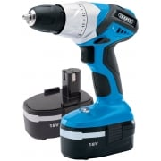DRAPER 18V Cordless Rotary Drill with Two Batteries: Model No. CD182V2B