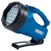 DRAPER 19 LED Rechargeable Torch/Lantern: Model No.RLEDL19/B