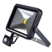 1950 Lumen COB LED Slimline Wall Mounted Flood Lights with PIR Senor (30W): Model No. WMCL30W/PIR/B