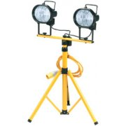 DRAPER 2 x 110V 400W Halogen Worklamps on Telescopic Stand: Model No.HL800C/TA110