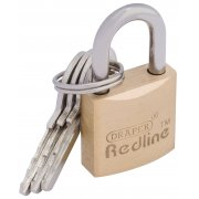 DRAPER 20mm Brass Cylinder Padlock : Model No.RL-PL