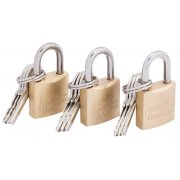 DRAPER 20mm Padlock Set (3 piece) : Model No.RL-PL20/3