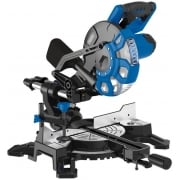 DRAPER 210mm 1500W 230V Sliding Compound Mitre Saw with Laser Cutting Guide: Model No. SMS210B