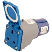 DRAPER 230V 16A to 13A Moulded Adaptor: Model No. 240VMP1