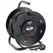 DRAPER 25M 230V Four Socket Industrial Cable Reel: Model No.DCR25HD