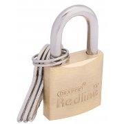 DRAPER 25mm Brass Cylinder Padlock : Model No.RL-PL
