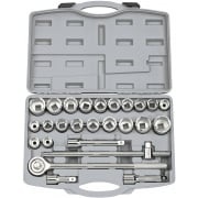 "DRAPER 3/4"" Sq. Dr. MM/AF Combined Socket Set (26 Piece): Model No. SD26AMA/B"