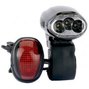 DRAPER 3 LED Wind up Bicycle Light Set: Model No.WHT/BS