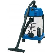 DRAPER 30L Wet and Dry Vacuum Cleaner with Stainless Steel Tank (1600W): Model No. WDV30SSB
