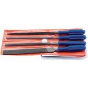 DRAPER 4 Piece 100mm Warding File Set with Handles: Model No.WFS4
