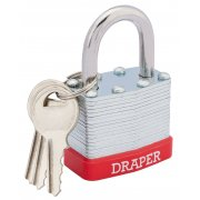 DRAPER 40mm Laminated Steel Padlock : Model No.RL-SLPL