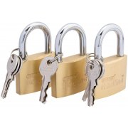 DRAPER 40mm Padlock Set (3 Piece) : Model No.RL-PL40/3