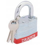 DRAPER 50mm Laminated Steel Padlock : Model No.RL-SLPL