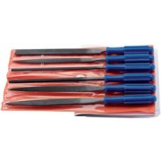 DRAPER 6 Piece 100mm Warding File Set with Handles: Model No.WFS6