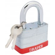 DRAPER 65mm Laminated Steel Padlock : Model No.RL-SLPL
