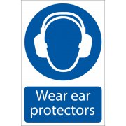 DRAPER 'Ear Protectors' Mandatory Sign: Model No.SS02