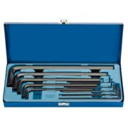 DRAPER Expert 10 Piece Metric Extra Long Pattern Hexagon Key Set: Model No.ELKW10M/B