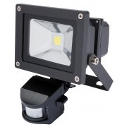 DRAPER Expert 10W COB LED Wall Mounted Flood Light with Passive Infra-Red Detector: Model No.WMCL10W/PIR