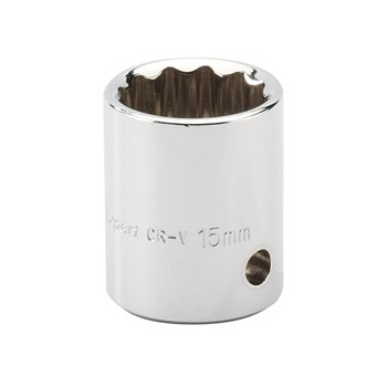 DRAPER Expert 15mm 3/8in. Square Drive Hi-Torq ; 12 Point Socket: Model No.D-MM