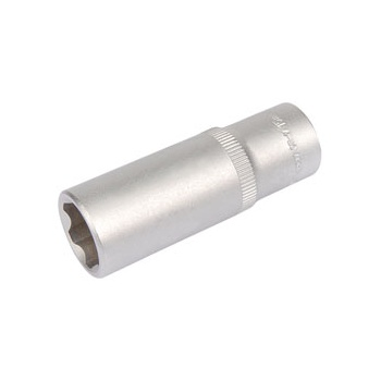 DRAPER Expert 15mm 3/8in. Square Drive Hi-Torq ; Satin Chrome 6 Point Deep Socket: Model No.DT6-MM