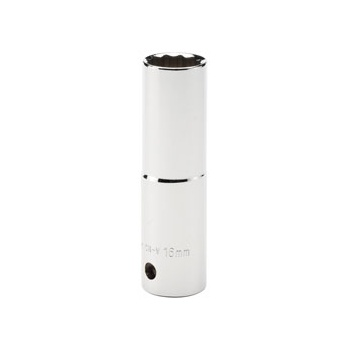 DRAPER Expert 16mm 1/2in. Square Drive Hi-Torq ; 12 Point Deep Socket (Sold Loose): Model No.HT-MMB