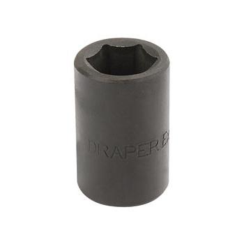 DRAPER Expert 16mm 1/2in. Square Drive Impact Socket: Model No.410MM