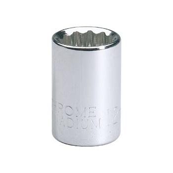 DRAPER Expert 16mm 3/8in. Square Drive Hi-Torq ; 12 Point Socket (Sold Loose): Model No.D-MMB