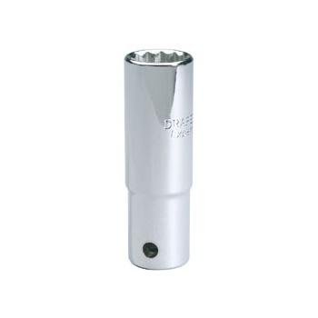 DRAPER Expert 18mm 1/2in. Square Drive Deep Hi-Torq ; 12 Point Socket (Sold Loose): Model No.HT-MMB