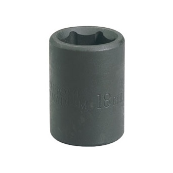 DRAPER Expert 18mm 1/2in. Square Drive Impact Socket (Sold Loose): Model No.410MMB