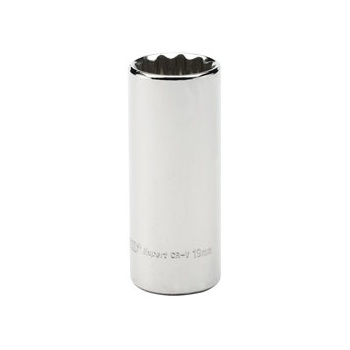 DRAPER Expert 19mm 3/8in. Square Drive Hi-Torq ; 12 Point Deep Socket (Sold Loose): Model No.DT-MMB