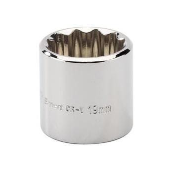 DRAPER Expert 19mm 3/8in. Square Drive Hi-Torq ; 12 Point Socket: Model No.D-MM