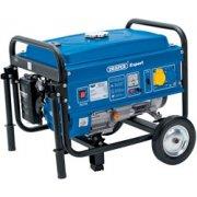 DRAPER Expert 2.5kVA/2.3kW Petrol Generator with Wheels: Model No.PG27W