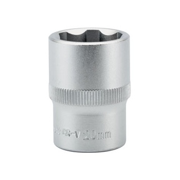 DRAPER Expert 20mm 1/2in. Square Drive Hi-Torq ; Satin Chrome 6 Point Socket: Model No.H6-MM