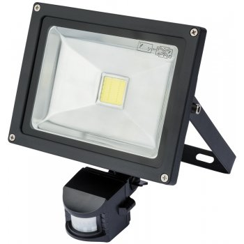 DRAPER Expert 20W COB LED Wall Mounted Flood Light with Passive Infra-Red Detector: Model No.WMCL20W/PIR