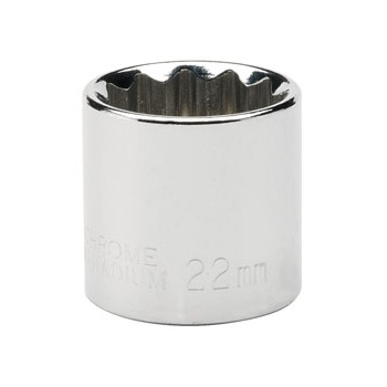 DRAPER Expert 22mm 3/8in. Square Drive Hi-Torq ; 12 Point Socket: Model No.D-MM