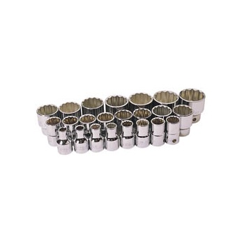 DRAPER Expert 23 Piece 1/2in. Square Drive Metric Hi-Torq ; Sockets: Model No.H23M/B