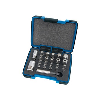 DRAPER Expert 23 Piece 1/4, 3/8in. Sq. Dr. Draper Tx-Star Plus Bit Set: Model No.TXP23/KIT