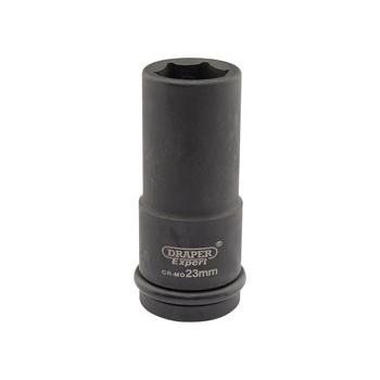 DRAPER Expert 23mm 3/4in. Square Drive Hi-Torq ; 6 Point Deep Impact Socket: Model No.419D-MM
