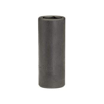 DRAPER Expert 24mm 1/2in. Square Drive Deep Impact Socket: Model No.410D-MM
