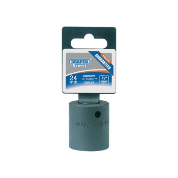DRAPER Expert 24mm 1/2in. Square Drive Impact Socket: Model No.410MM