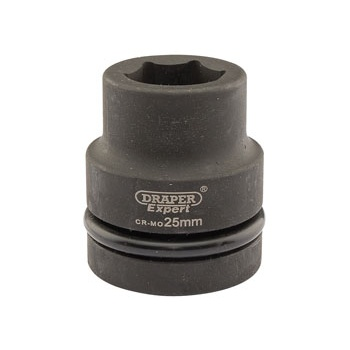 DRAPER Expert 25mm 1in. Square Drive Hi-Torq ; 6 Point Impact Socket: Model No.425-MM